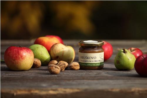 Hruškovo-jablečný džem s karamelem a ořechy, 220g