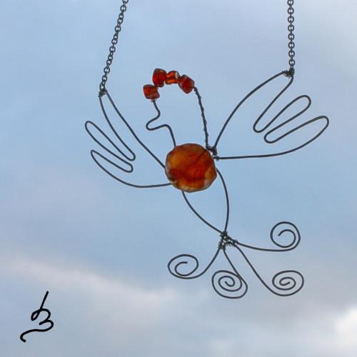 Náhrdelník Kouzelný pták - S.Steel
