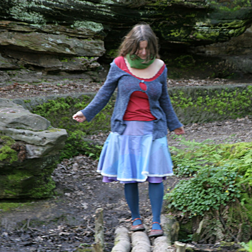 Kanafaska IV...dámská kolová sukně M