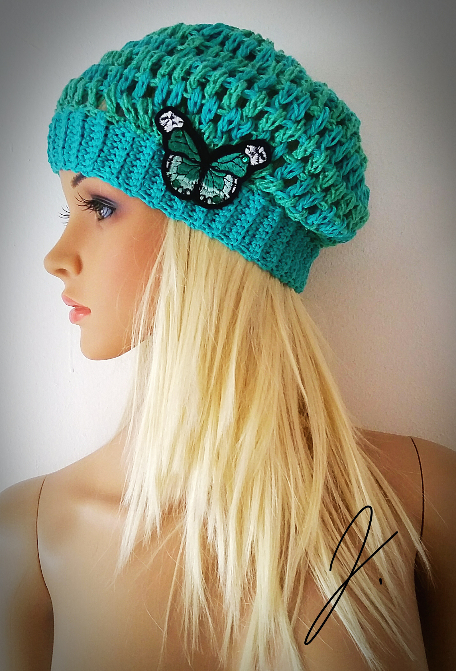 b8466e2be Háčkovaná jarná čiapka / baretka / Zboží prodejce Luxury moda | Fler.cz