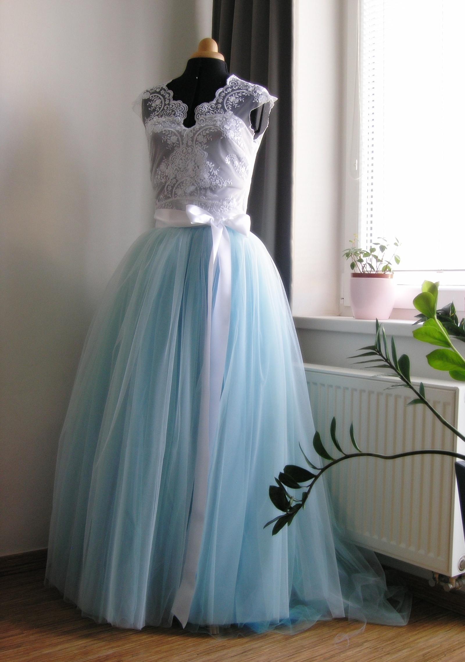 ebb47dd53b4 svatební top a sukně v modré...zakázka   Zboží prodejce ceasara ...