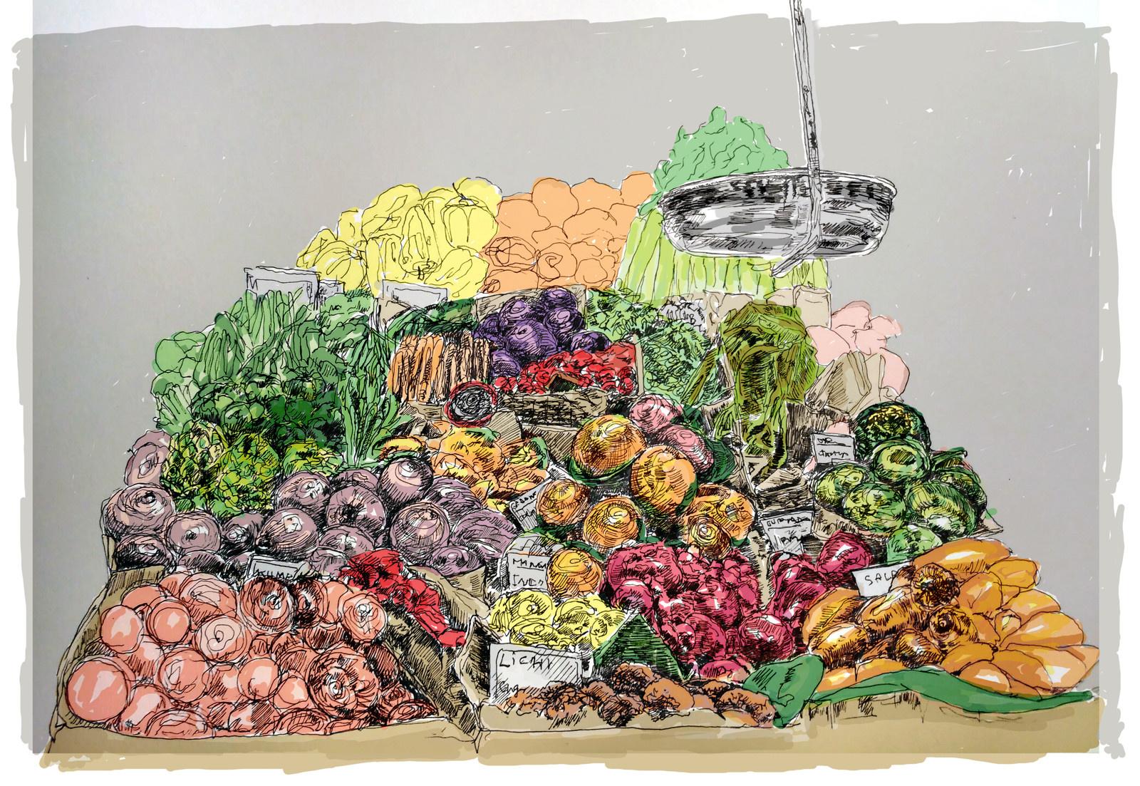 Barevne Ovoce Zelenina Pc Kresba Zbozi Prodejce Lucstokl Fler Cz