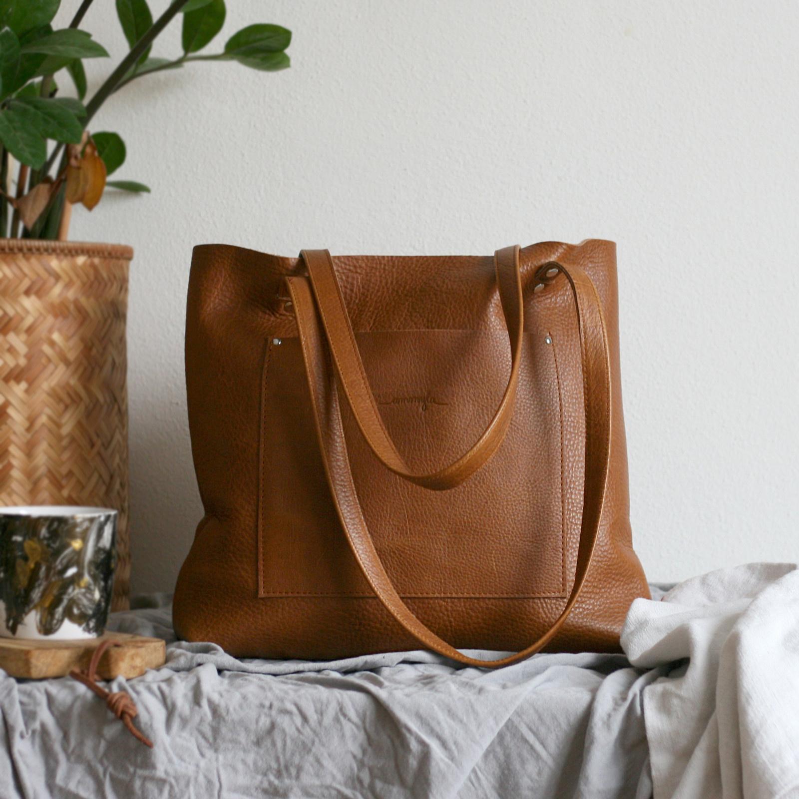 Nina (kožená taška hnedá) - nedostupné   Zboží prodejce Ammyla  d7f96c1690