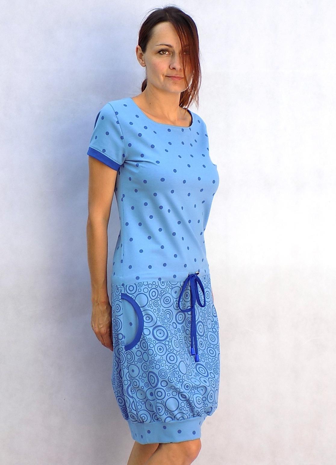 Modré kombinované šaty...vel. M L   Zboží prodejce LaPanika  3fdfbc53d67