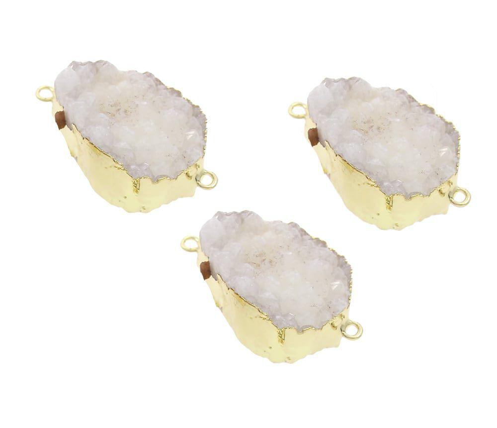 1a344817f 1ks Crystal Bílé Zlato Slza Druzy Drop Ice Quartz / Zboží prodejce ...