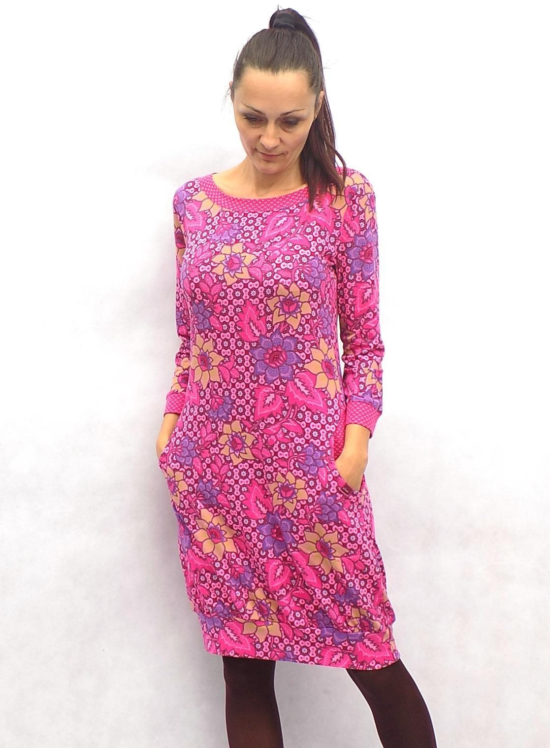Růžovo-cyklámové balónové šaty...vel. M   Zboží prodejce LaPanika ... d2c326b3b0e