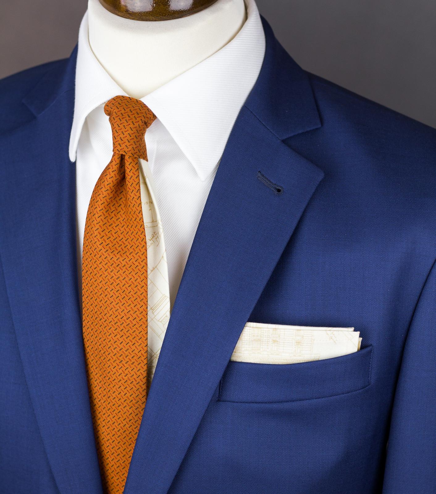3ecadf82602 Pánská Twin kravata oranžová se vzorem   Zboží prodejce bubibubi ...