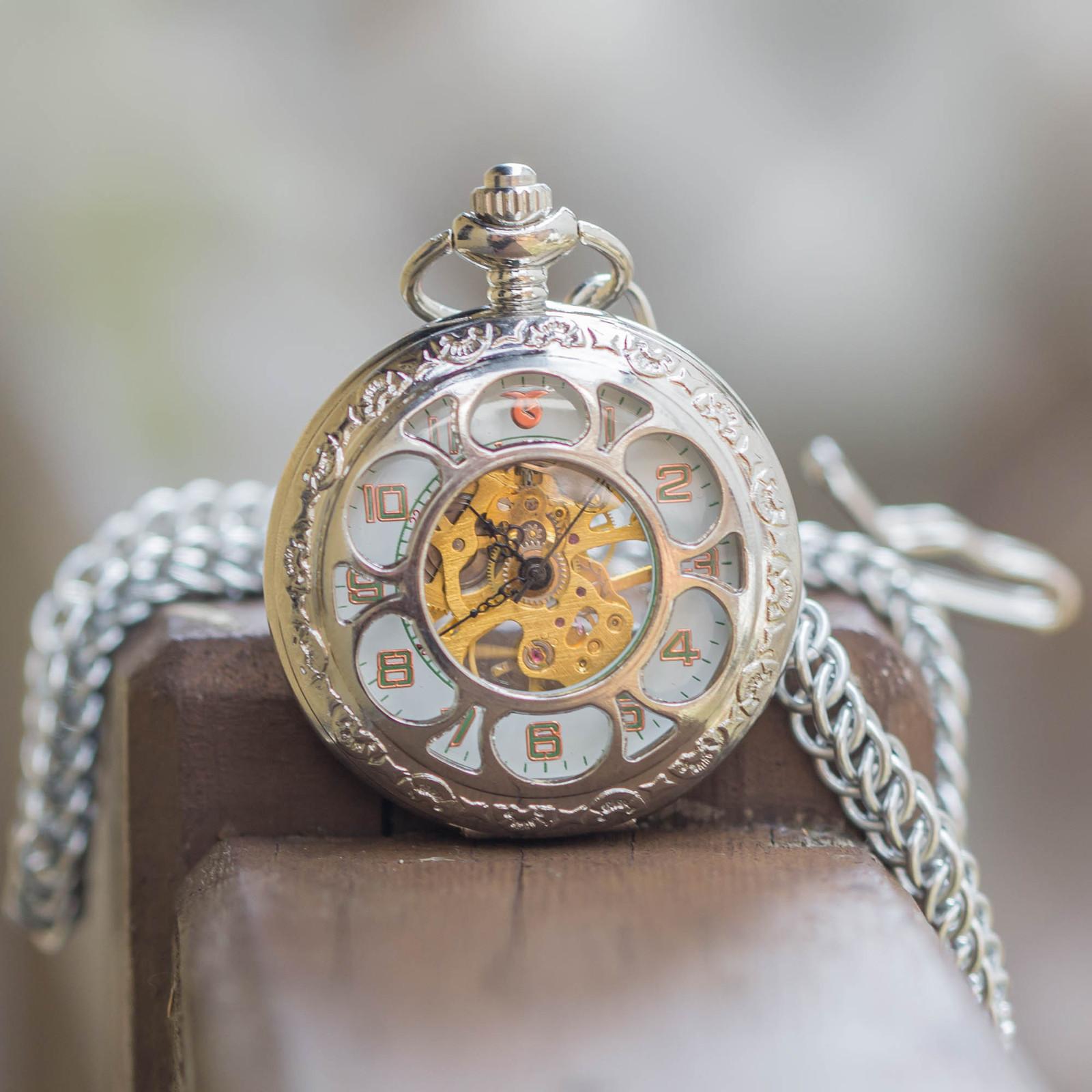 0c660b58734 Mechanické kapesní hodinky s kroužkovaným řetězem   Zboží prodejce ...