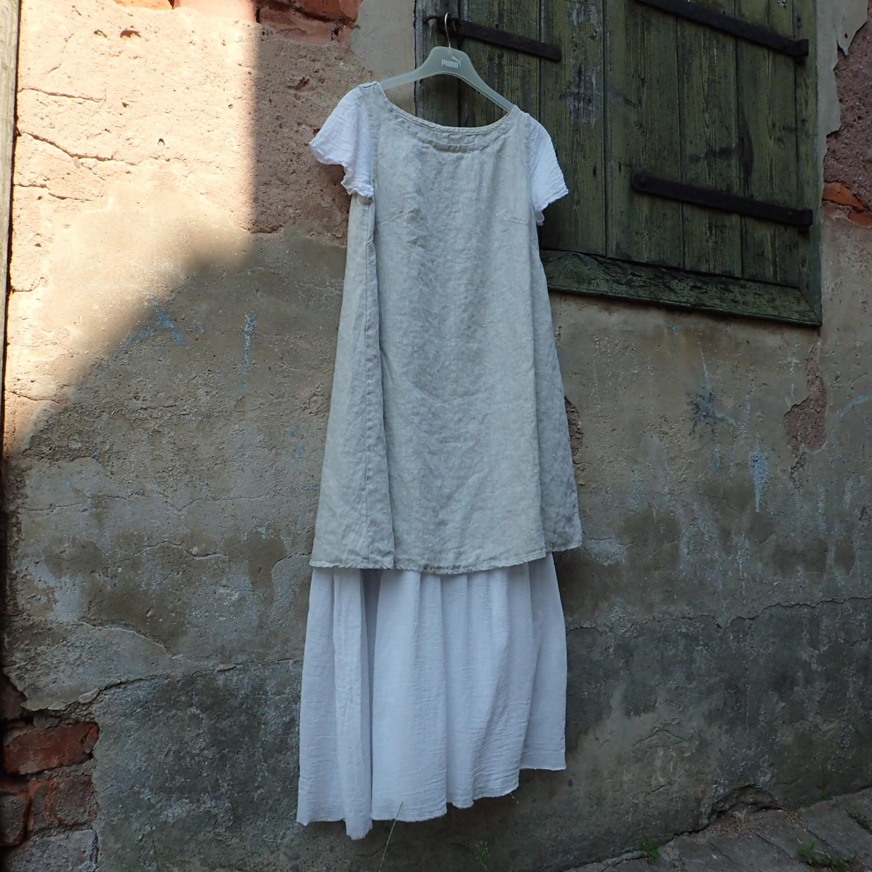 Šaty lněné dlouhé   Zboží prodejce may  49a5d5ee81