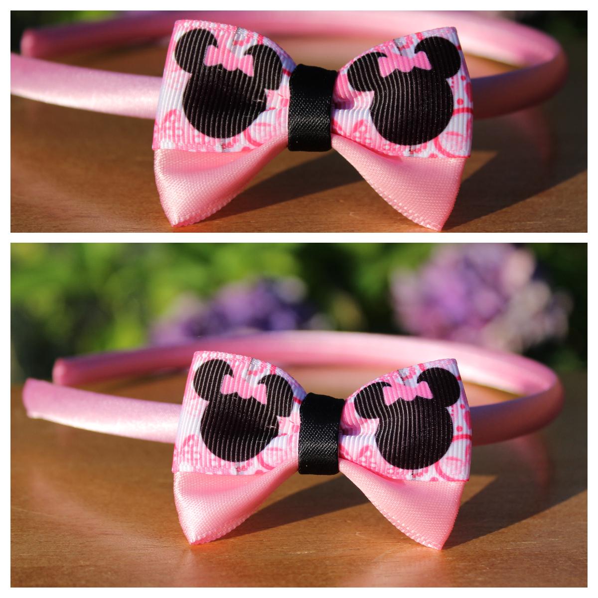 b54368403e3 Čelenka plastová - růžová mašle Minnie   Zboží prodejce Vlasové ...
