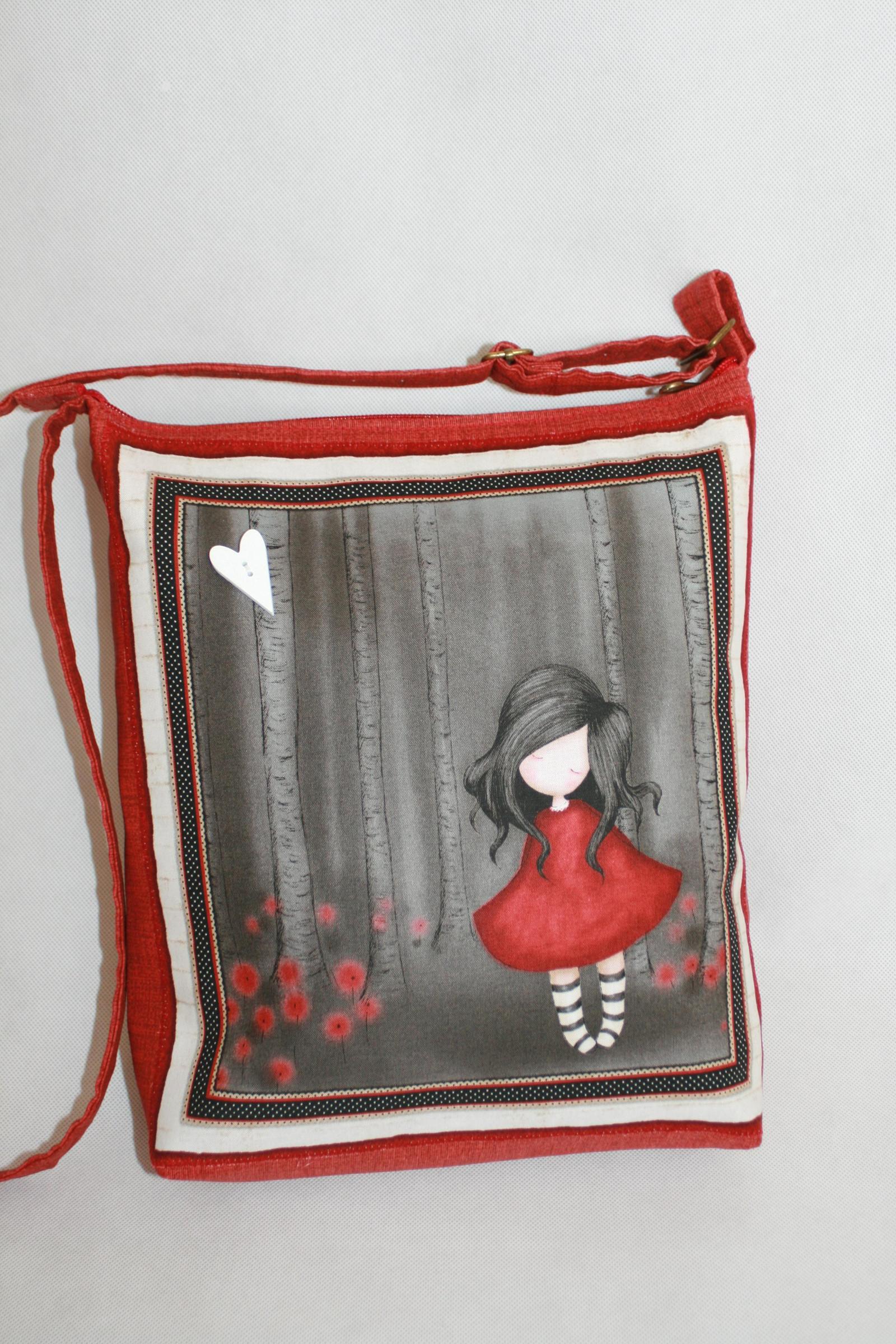 d297e8cf1f4 Vyztužená crossbody kabelka- s dívkou I.   Zboží prodejce RenatM ...