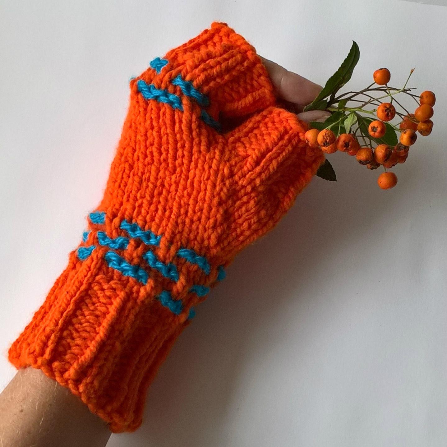 d54ef5ef072 Oranžové návleky na ruce   Zboží prodejce Zlatá jehlice