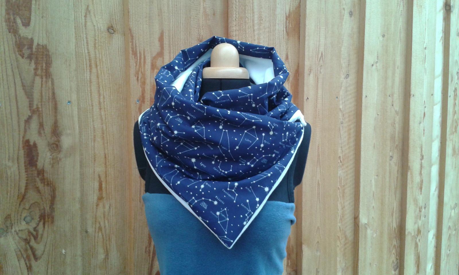 Nákrčník fleece x bavlna - SOUHVĚZDÍ   Zboží prodejce 4Radost  c1ebffbb88