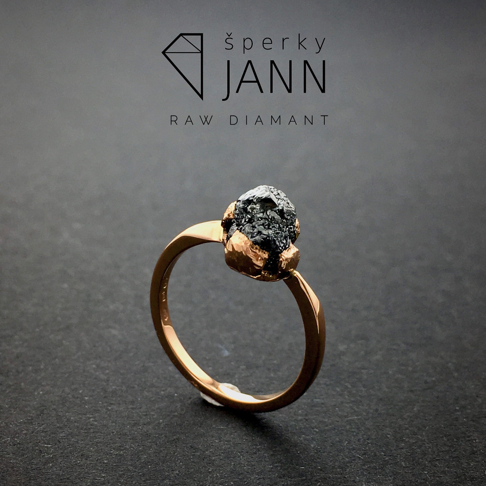 23f0669dd Prsten s Raw Diamantem s růžového zlata / Zboží prodejce ŠperkyJann ...