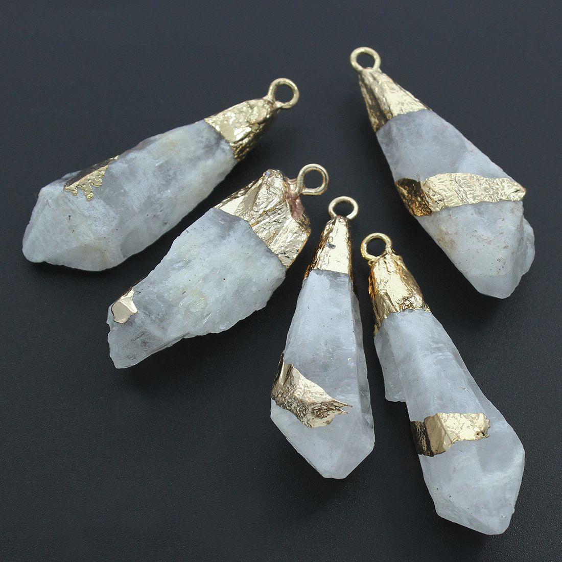 579738bf9 1ks Crystal Bílé Pruhované Zlaté Druzy Slza Pokles / Zboží prodejce ...