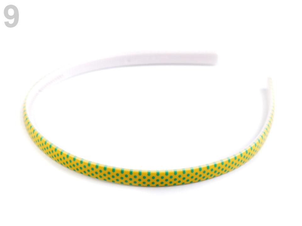 Plastová čelenka s puntíky - žlutá (1ks)   Zboží prodejce ... c3d272a96c