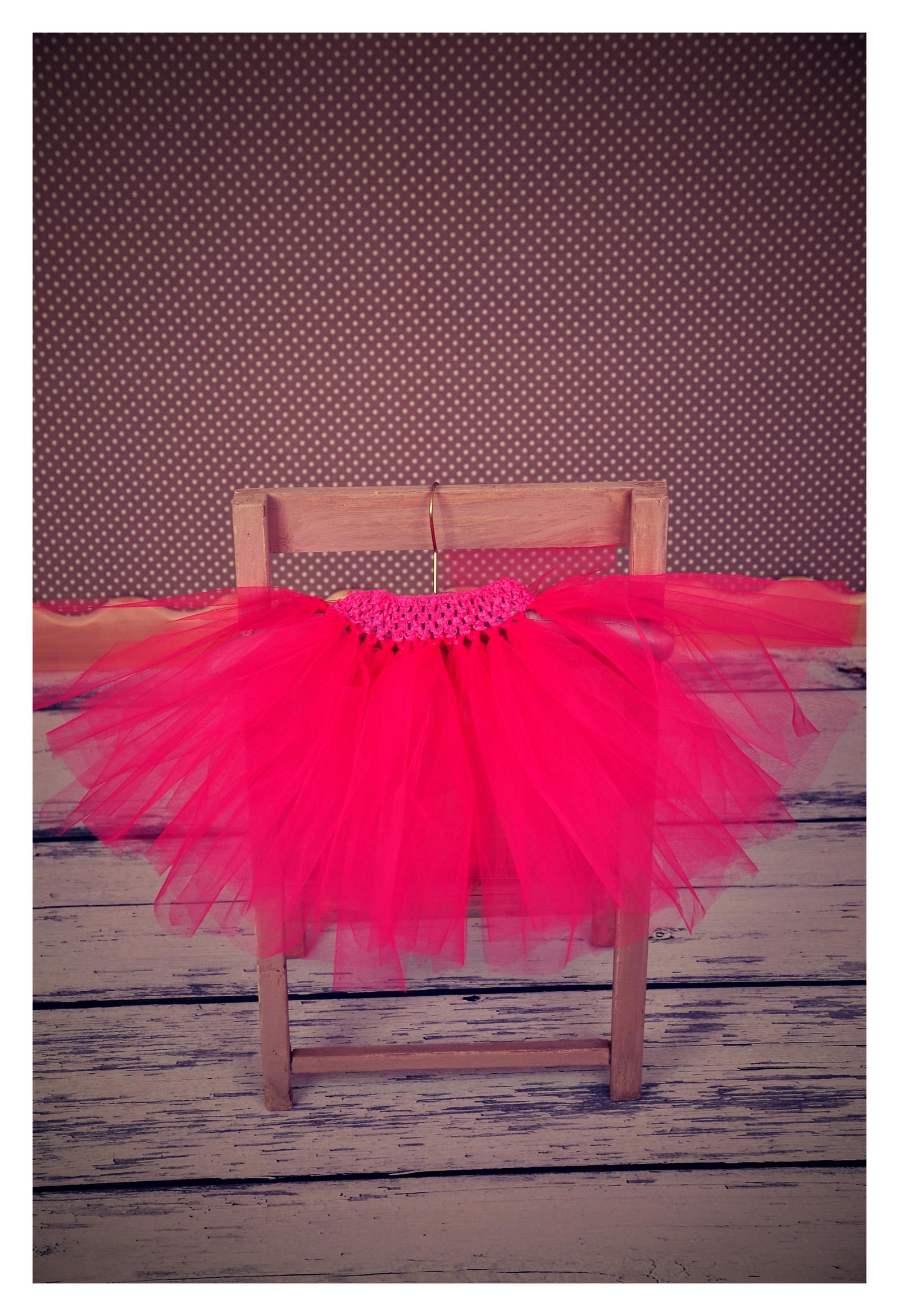 876134c97e8 Tylová tutu sukně - tmavě růžová   Zboží prodejce U TŘÍ MEDVÍDKŮ ...