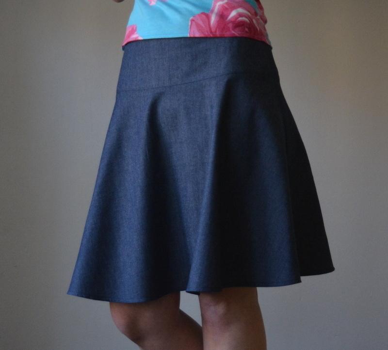 Tmavomodrá sukně na přání   Zboží prodejce Petrushe  f955d84a0f