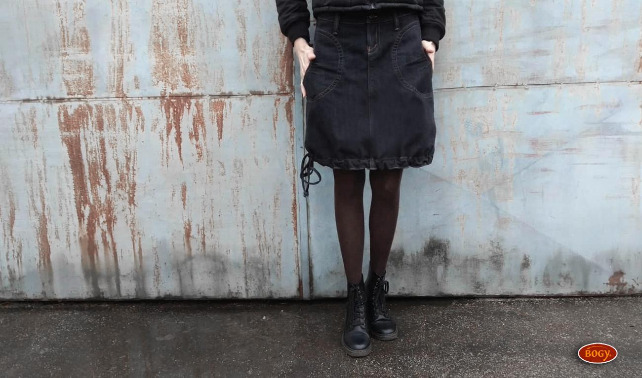 d11ff4efeeb černá riflová sukně ke kolenům