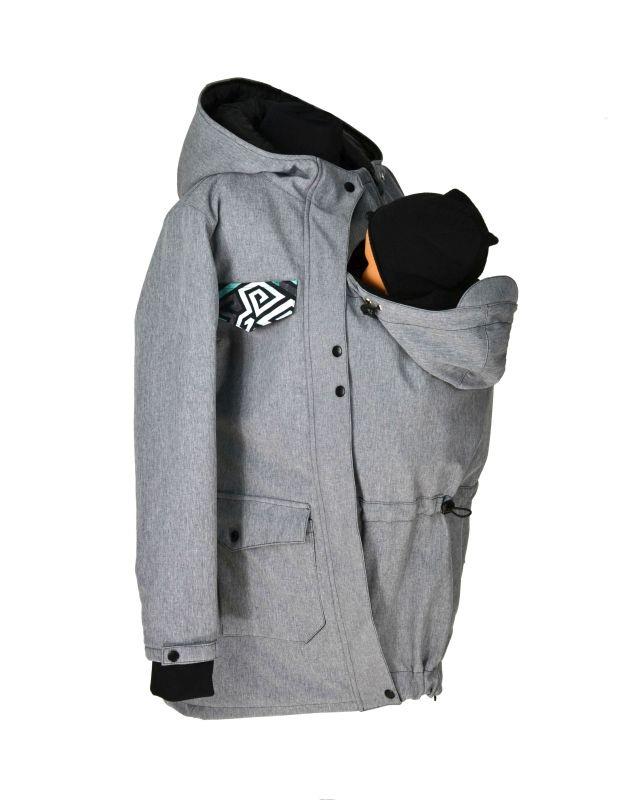 Soft.nosící kabát-jaro podzim-šedý žíh.graff.patka   Zboží prodejce ... 5b0928f3af
