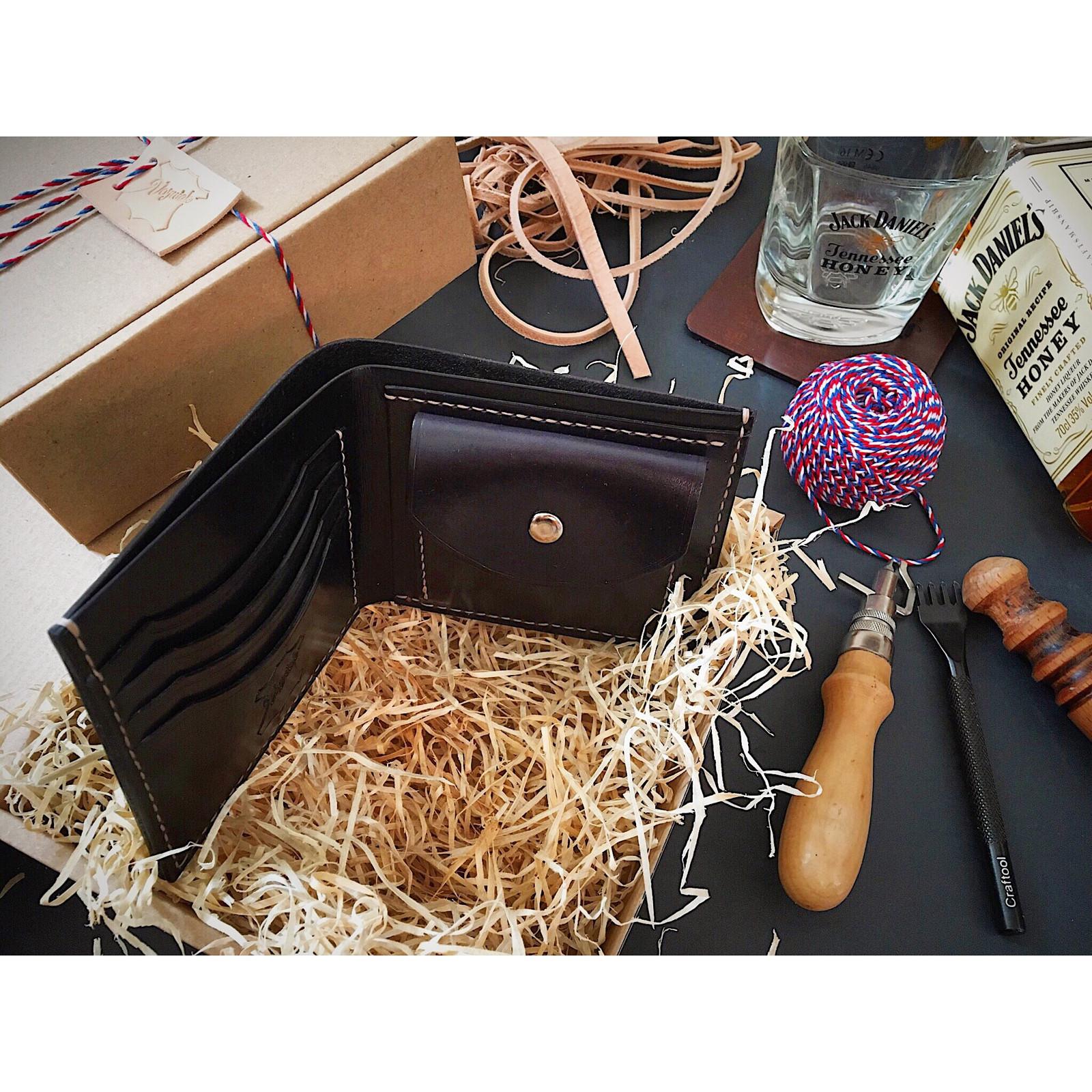 f03c6a73b Kožená peněženka na zakázku - ruční výroba / Zboží prodejce ...