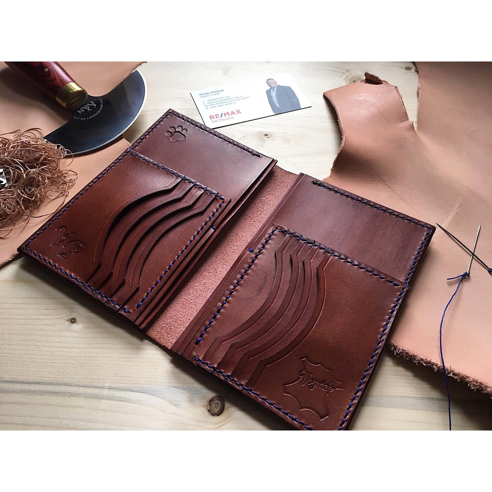 d9e1f2bf0 Velká kožená peněženka na zakázku - ruční výroba / Zboží prodejce ...