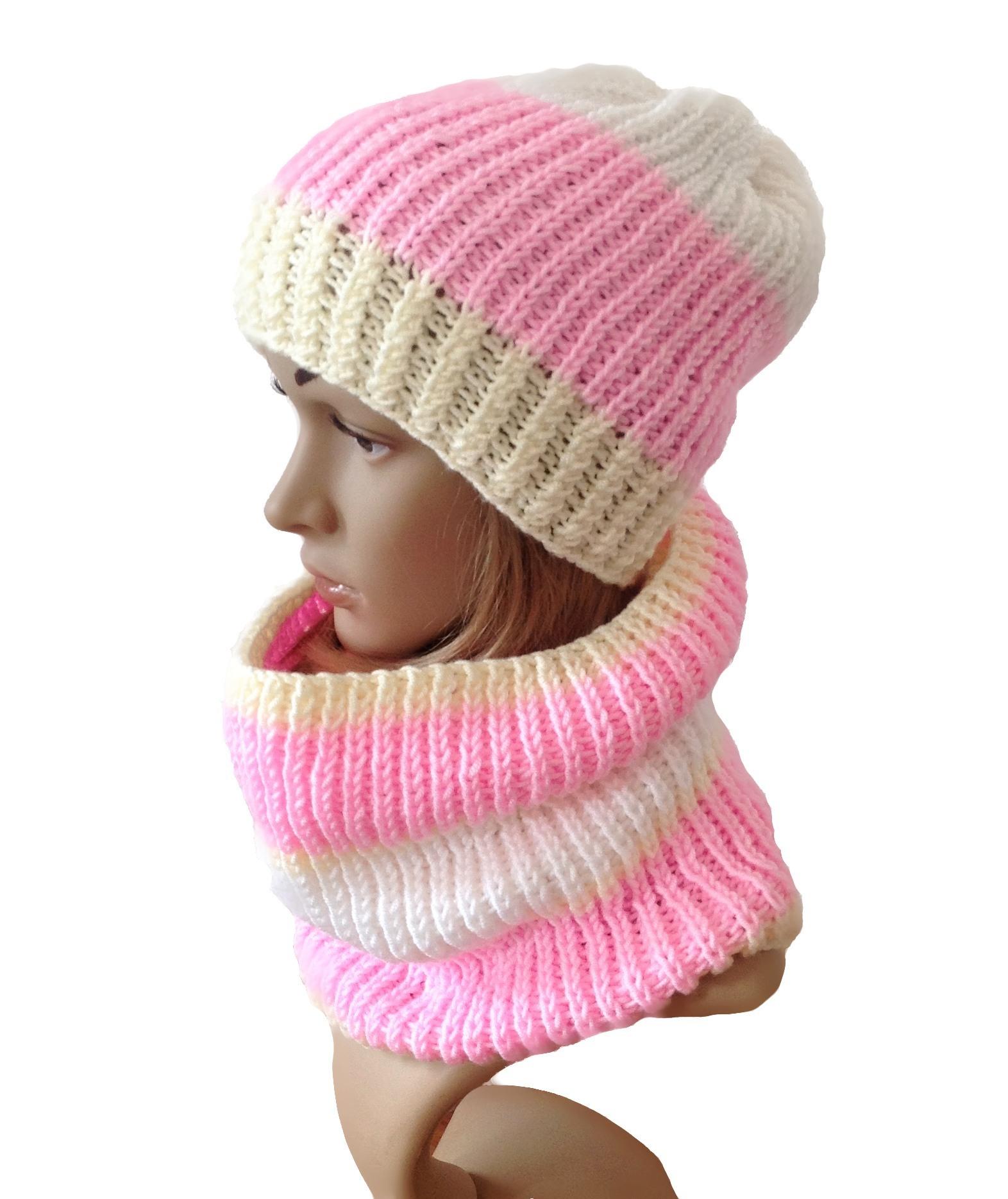 Pletená čepice+nákrčník...SLEVA z 590 f30e1a5beb