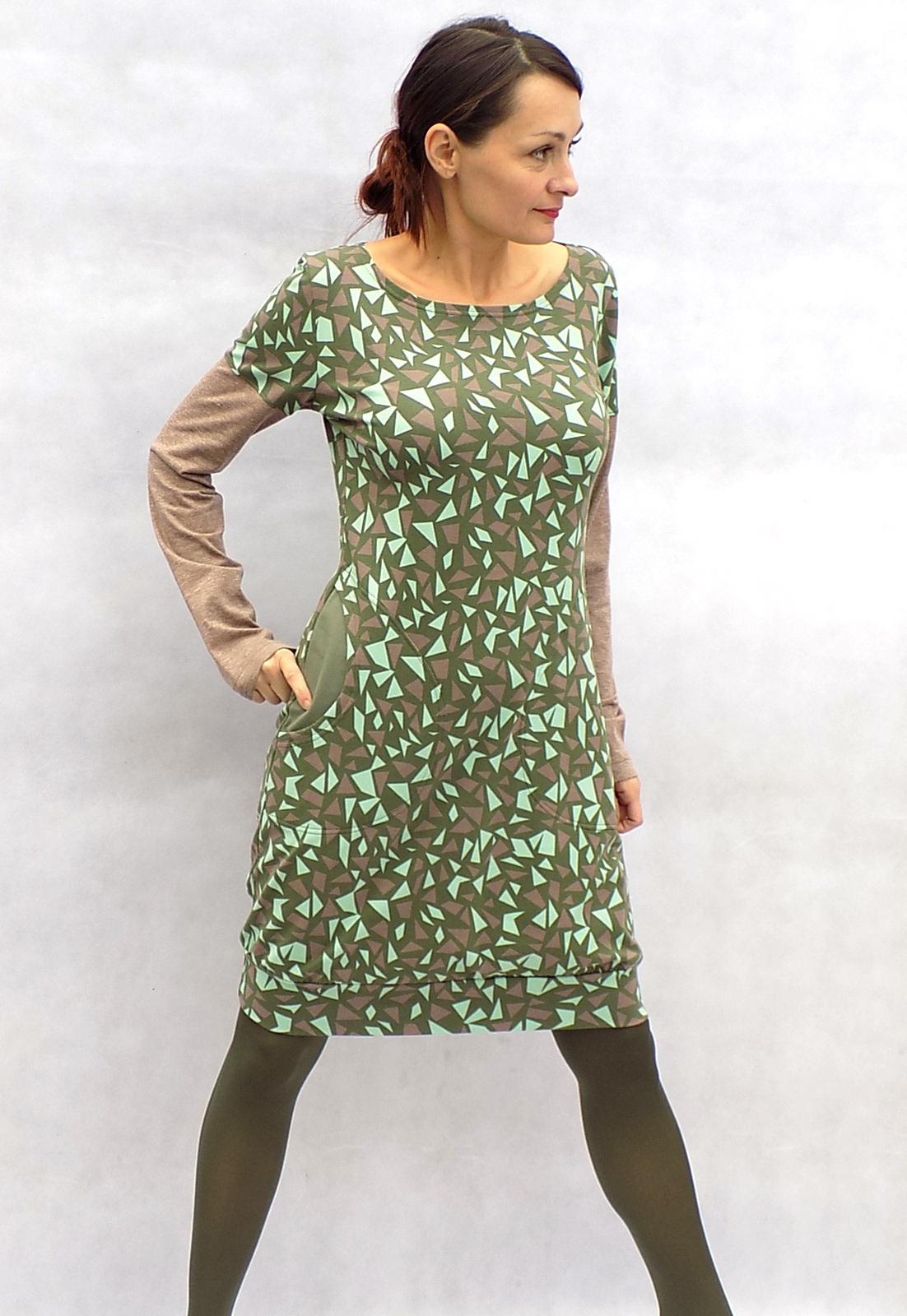 Zeleno-béžové šaty...vel. L   Zboží prodejce LaPanika  7e154ac4b3e