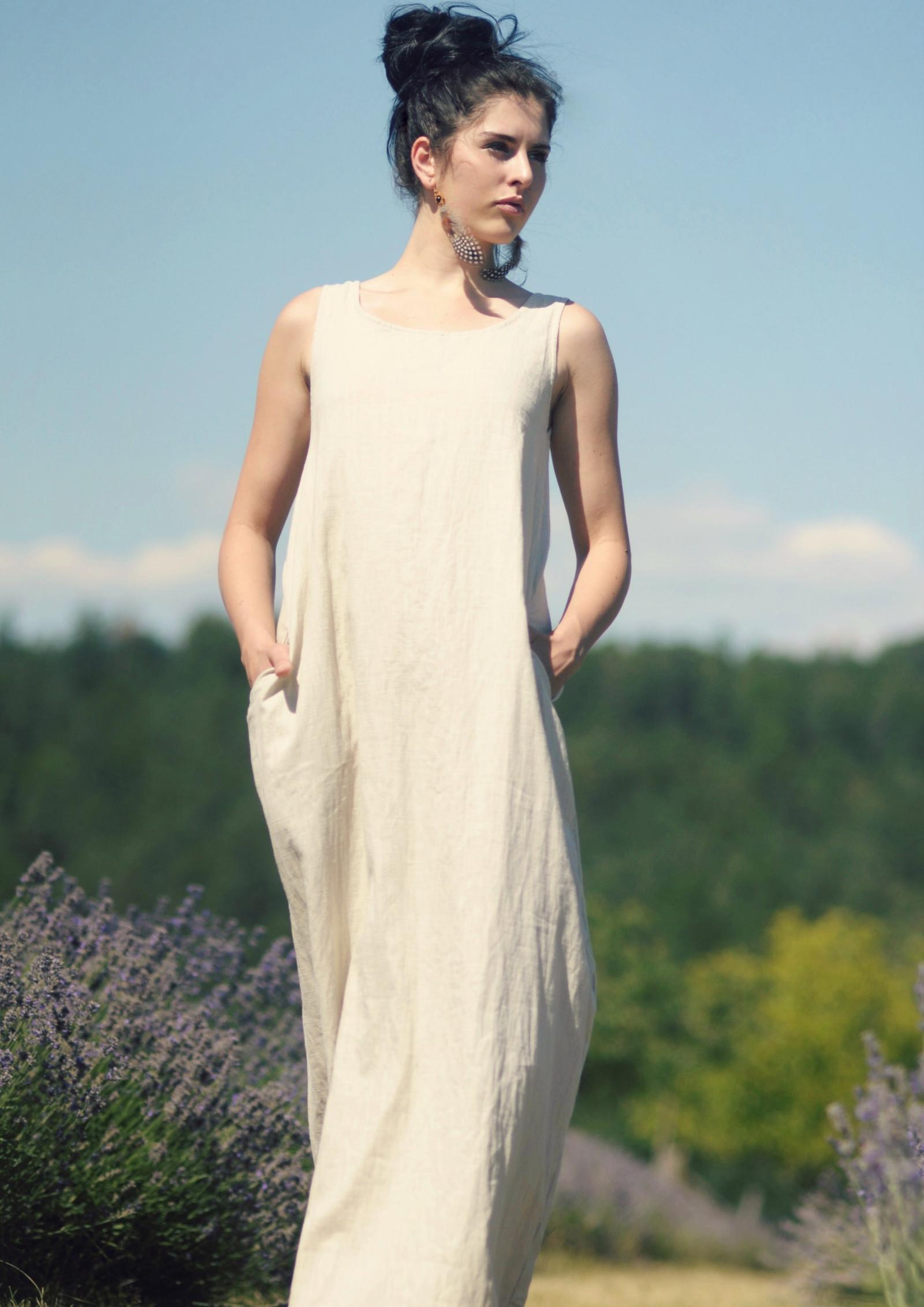 1fc65005522 Lněné maxi šaty (velikost XS)   Zboží prodejce by Caldero