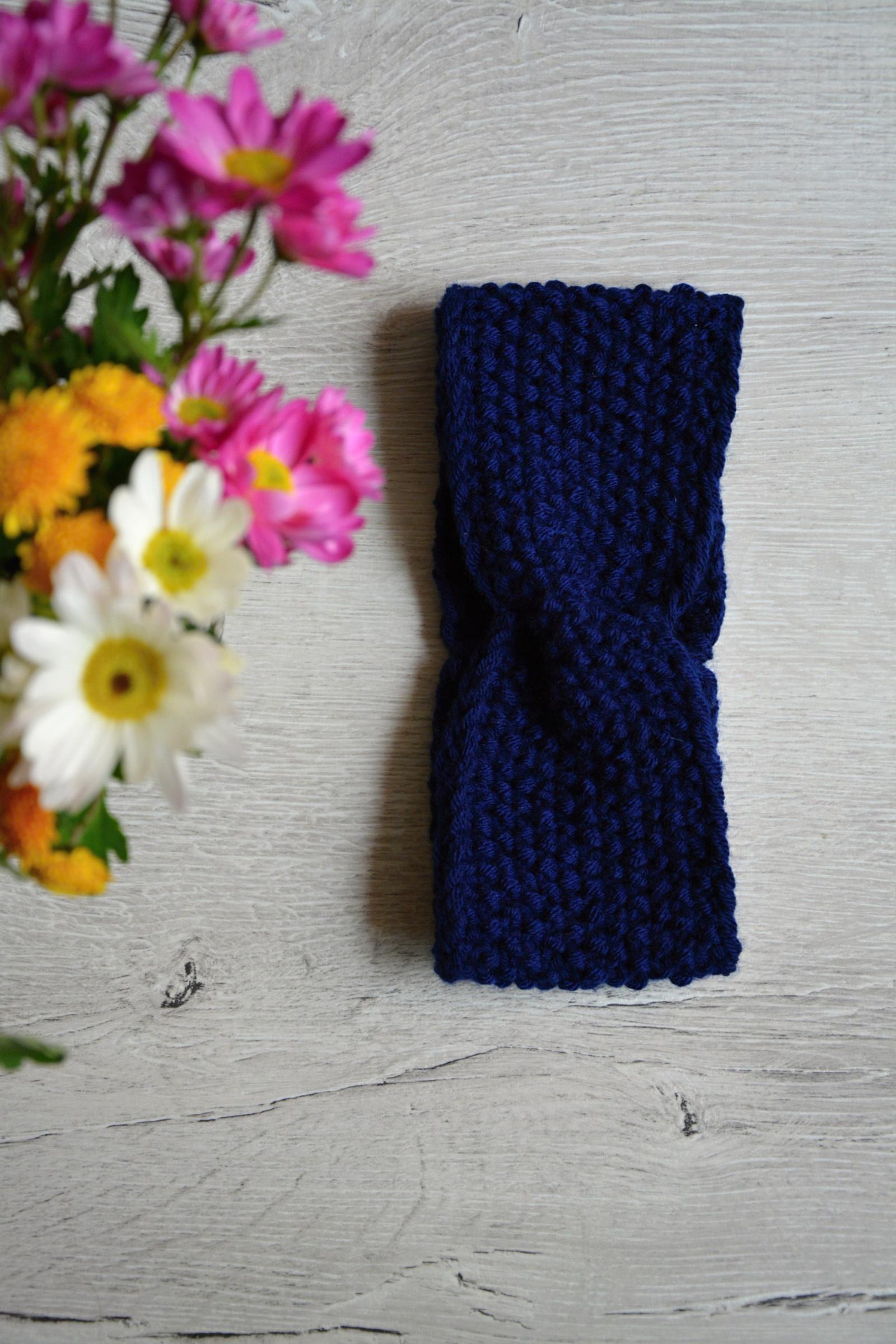 Pletená čelenka s copy - modrá   Zboží prodejce Švambi74  19bda3a80b