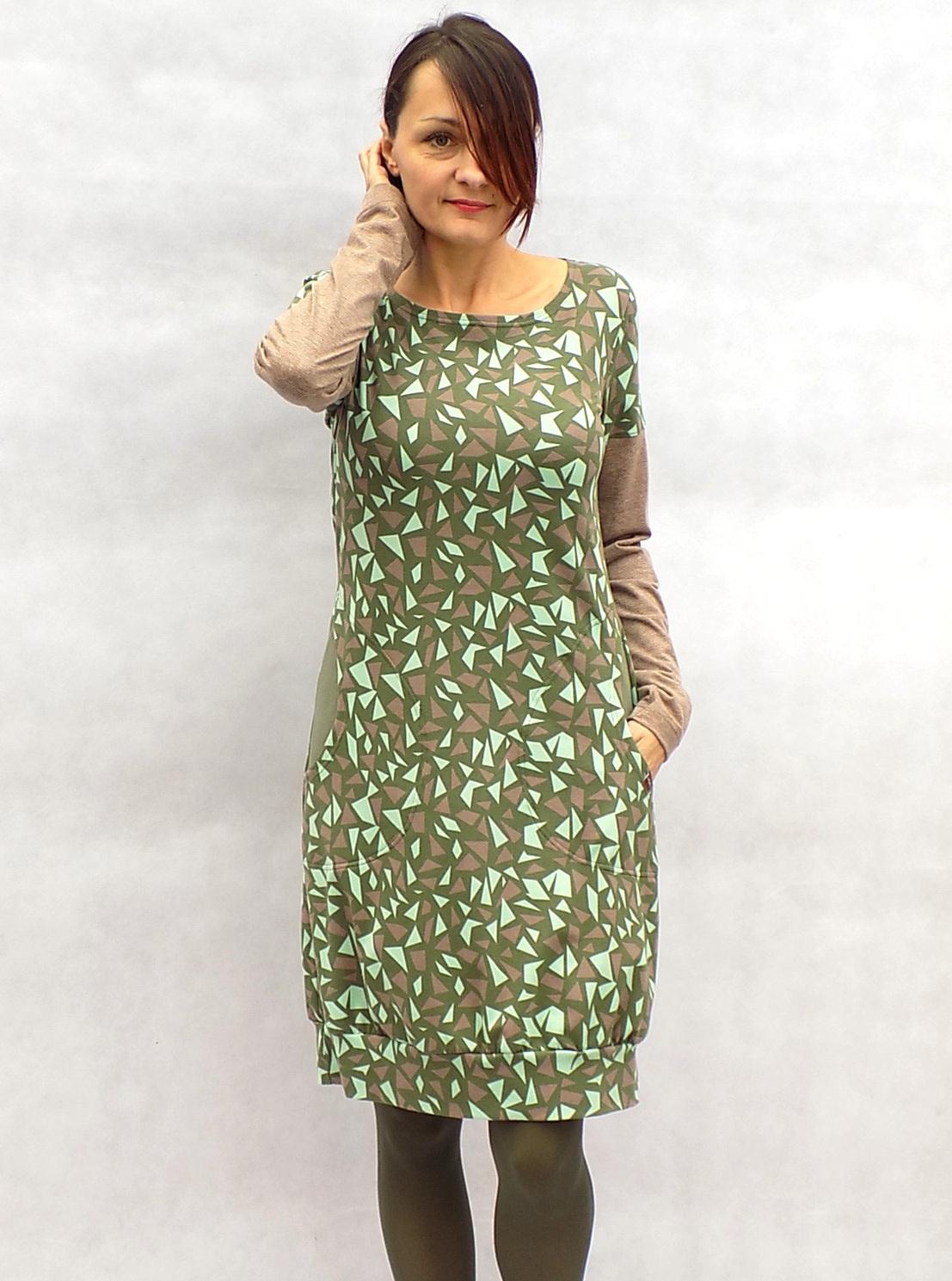 Zeleno-béžové šaty...vel. M   Zboží prodejce LaPanika  ce3eb0b4e5a