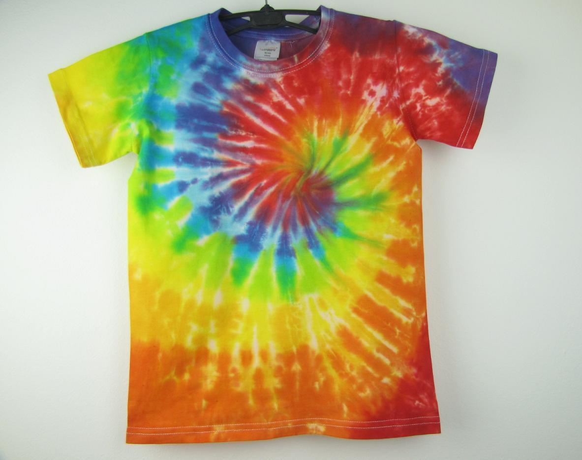 114112418e8d Dětské batikované tričko Duhová spirála