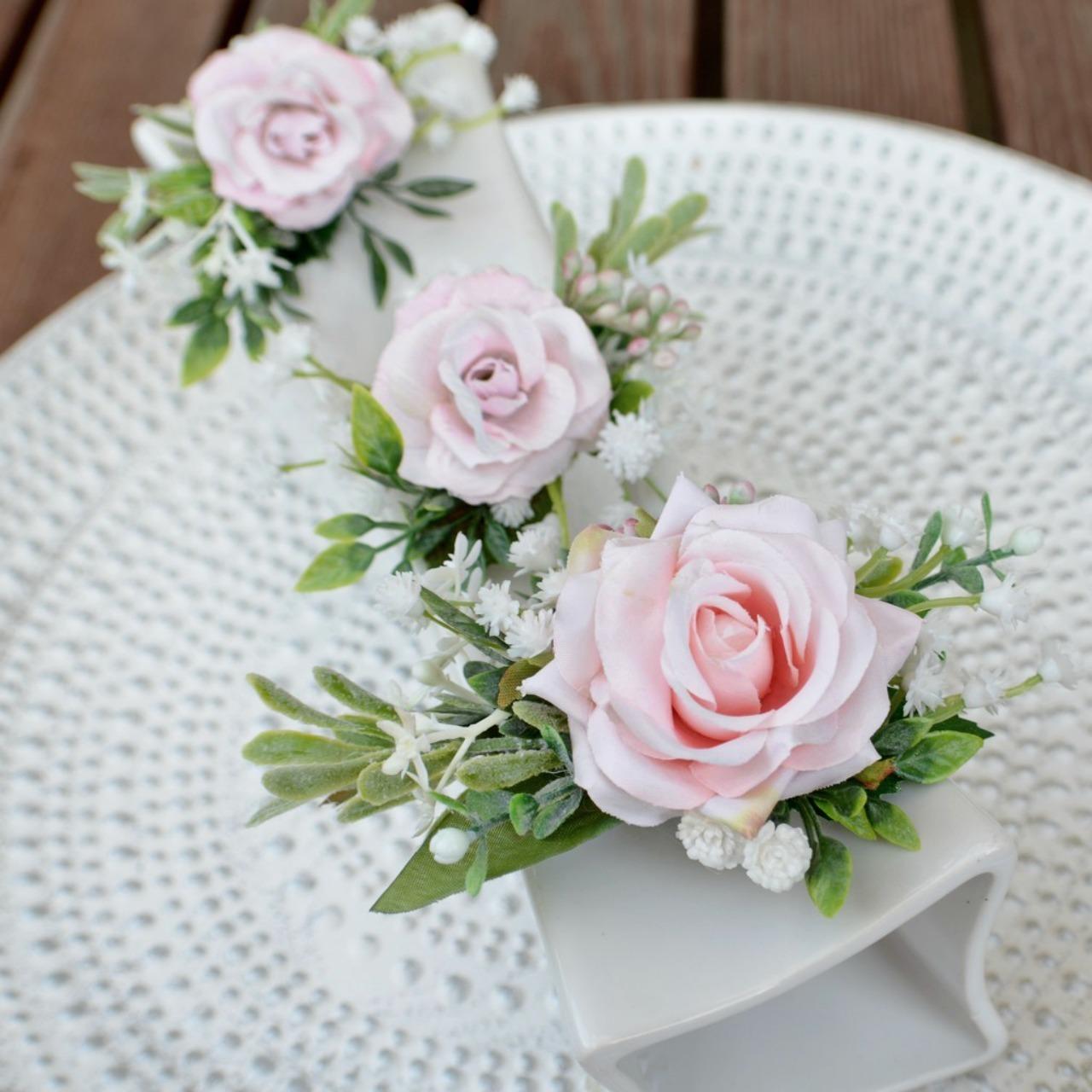 Sada 3 květinových spon do vlasů růžová   Zboží prodejce kultdesign ... 0096834c38