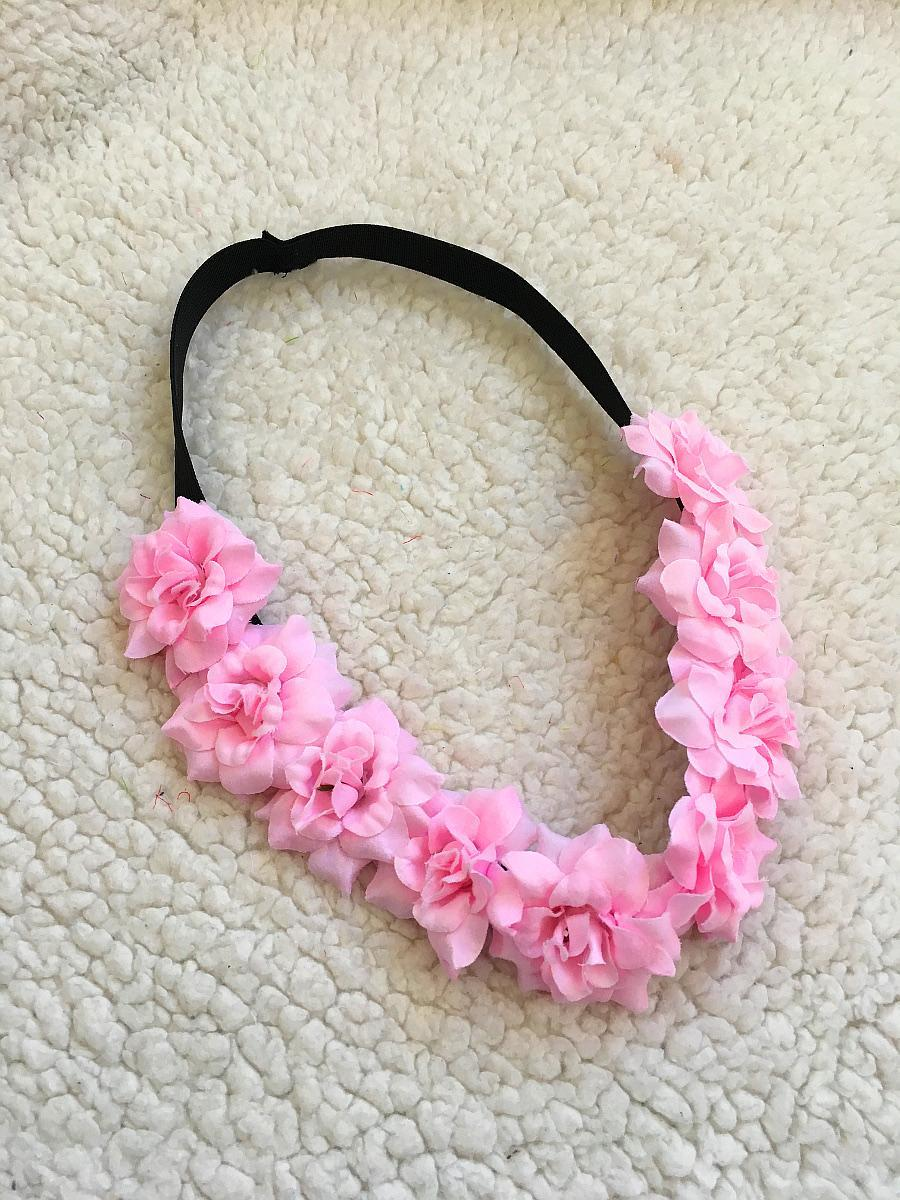 a1cb932e57f Květinová čelenka do vlasů věneček - jemně růžová   Zboží prodejce ...
