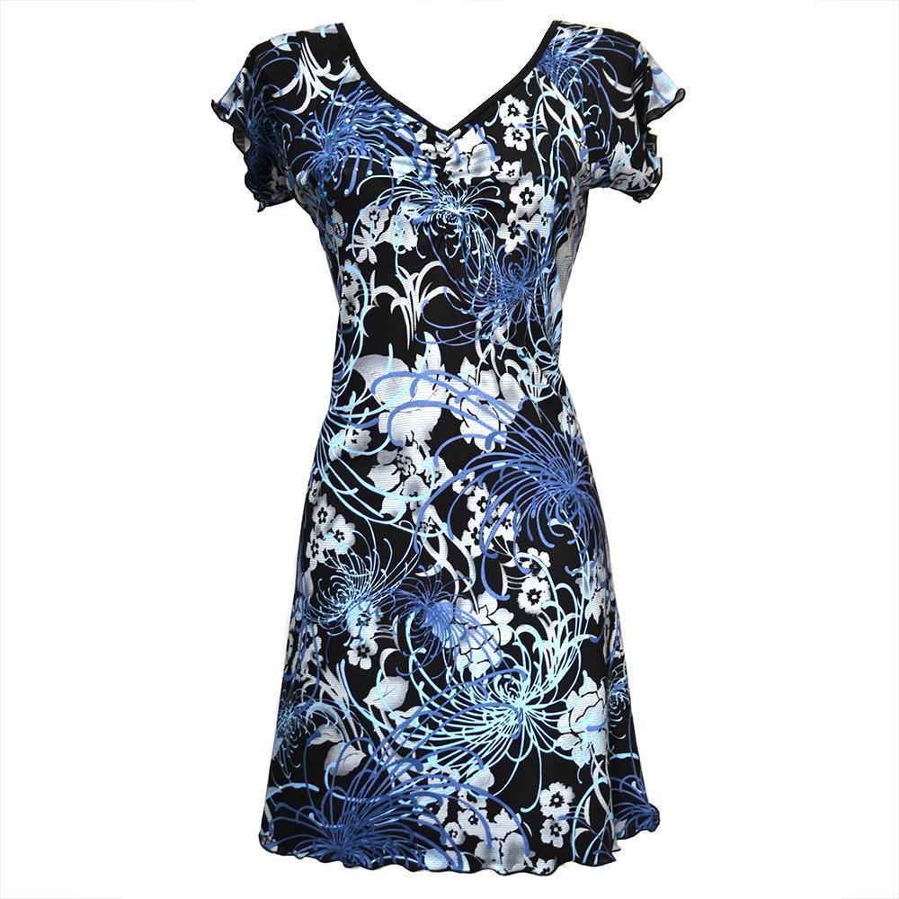 Letní šaty ADELIA modré s kamínky - vel. 36 až 48   Zboží prodejce ... 27b787a512