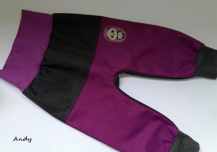 6f70408930d softshell poloturky - šedivá+fialová