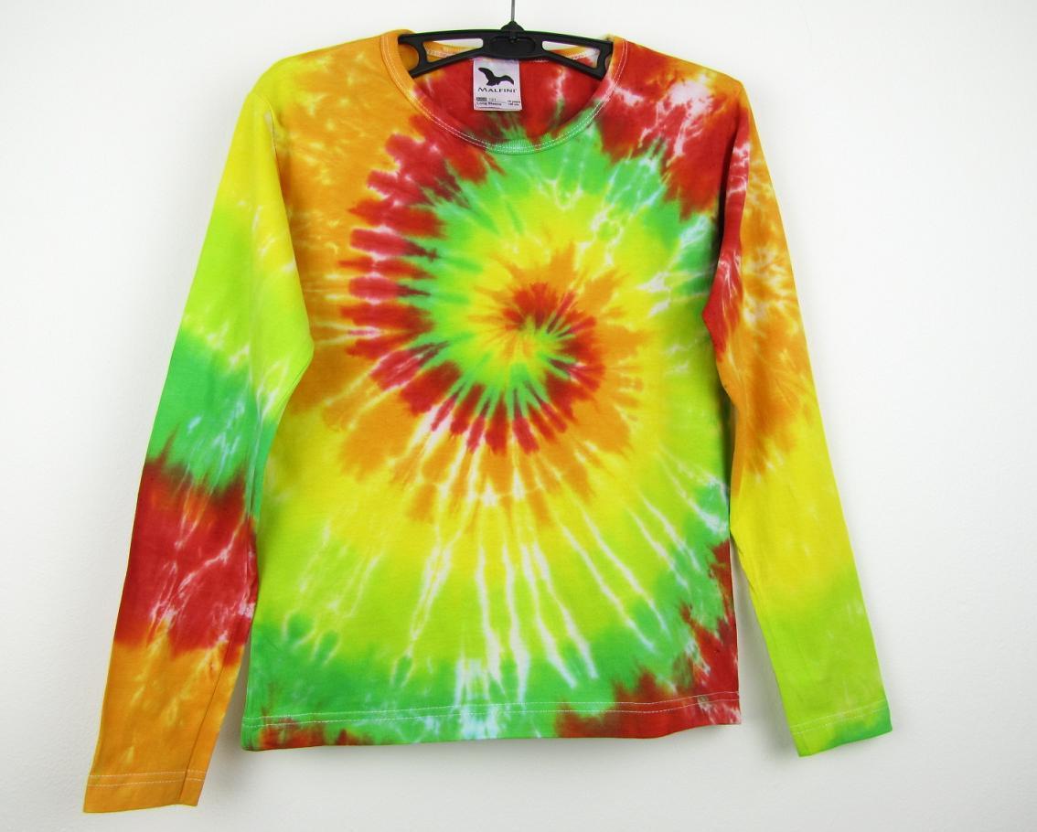 7f5777b87b66 Dětské batikované tričko Happy
