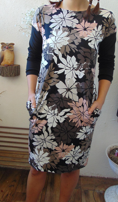 ffabf6e1bc66 šaty s kapsama-KVĚT PODZIMU (velikost XXL)   Zboží prodejce Pa-Milada