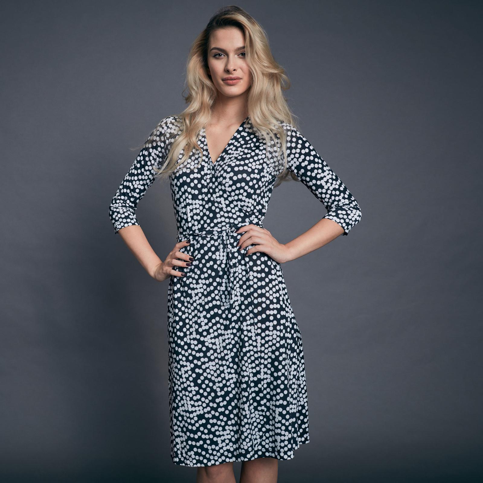 7d4c8a2e723 f w 2018 - Puntíkované zavinovací šaty (puntíkované)   Zboží prodejce  Zuzana Veselá