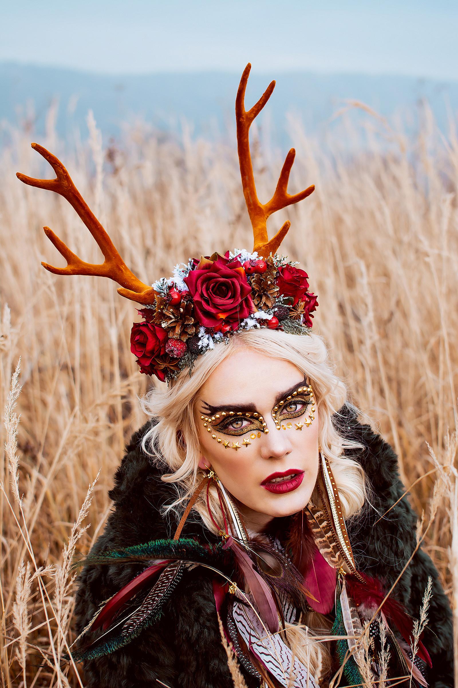 02c69e226c3 Velká vánoční čelenka s parůžky   Zboží prodejce Čarbičková Bijoux ...