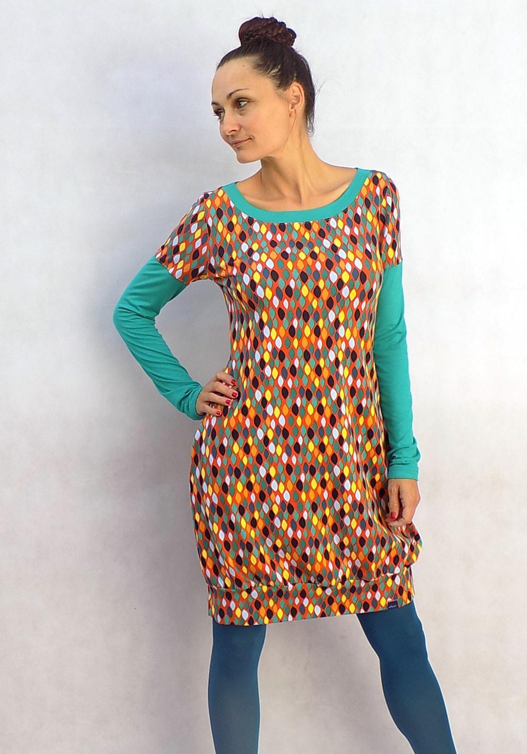 Terakotové šaty - retro vzoreček...vel.M   Zboží prodejce LaPanika ... caa6f30349f