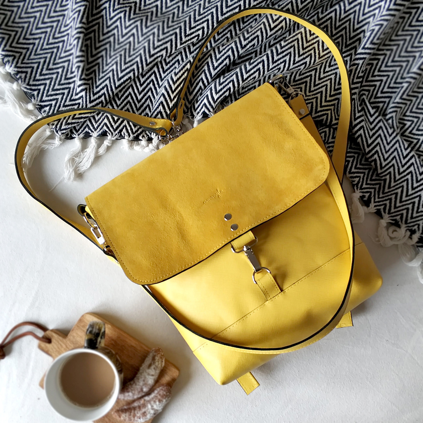 Kožený batoh Lara (žltý) - nedostupné   Zboží prodejce Ammyla  70b72b44be