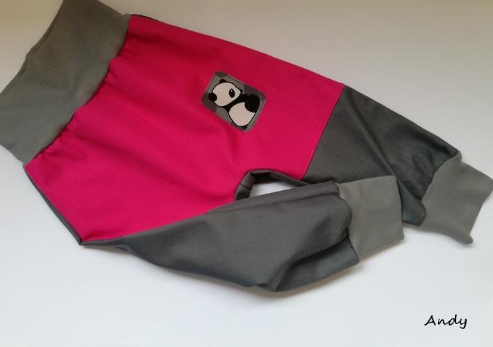4828bc896e3 softshell poloturky - šedá+růžová