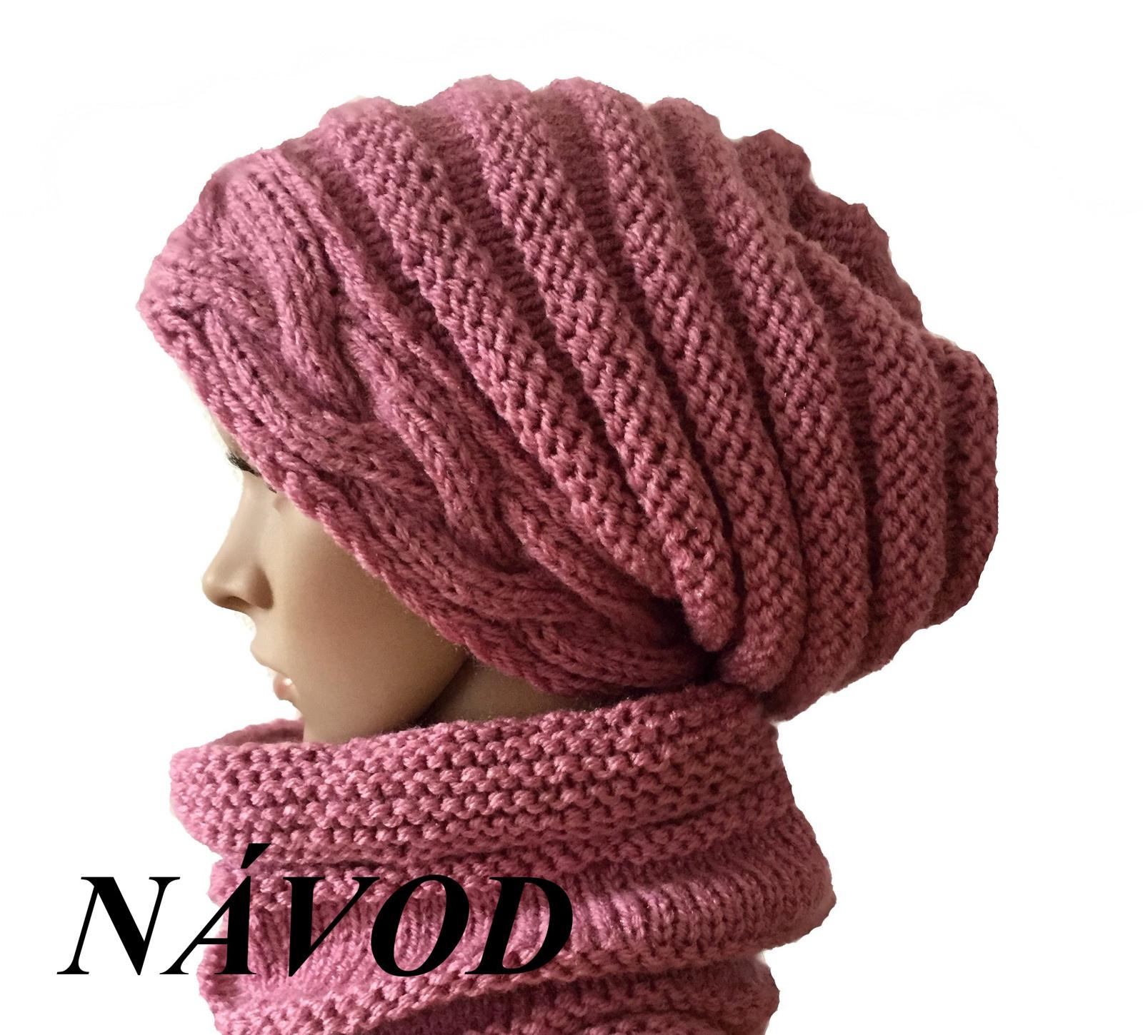 NÁVOD na pletenou čepici s copanovým okrajem   Zboží prodejce ... eb83676272