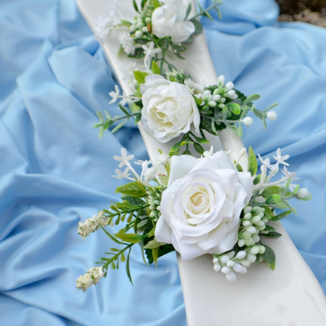 Sada 3 květinových spon do vlasů bílá   Zboží prodejce kultdesign ... bd279d53f1