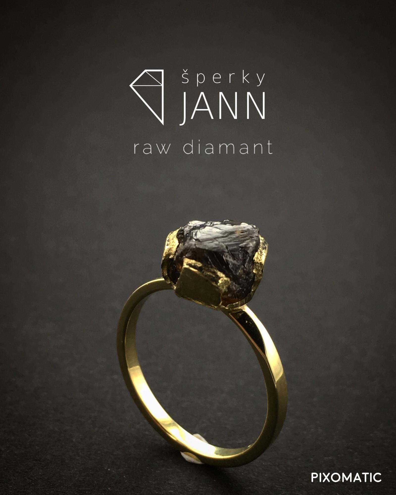 833929b88 Prsten s RAW Diamantem ve žlutém zlatě / Zboží prodejce ...