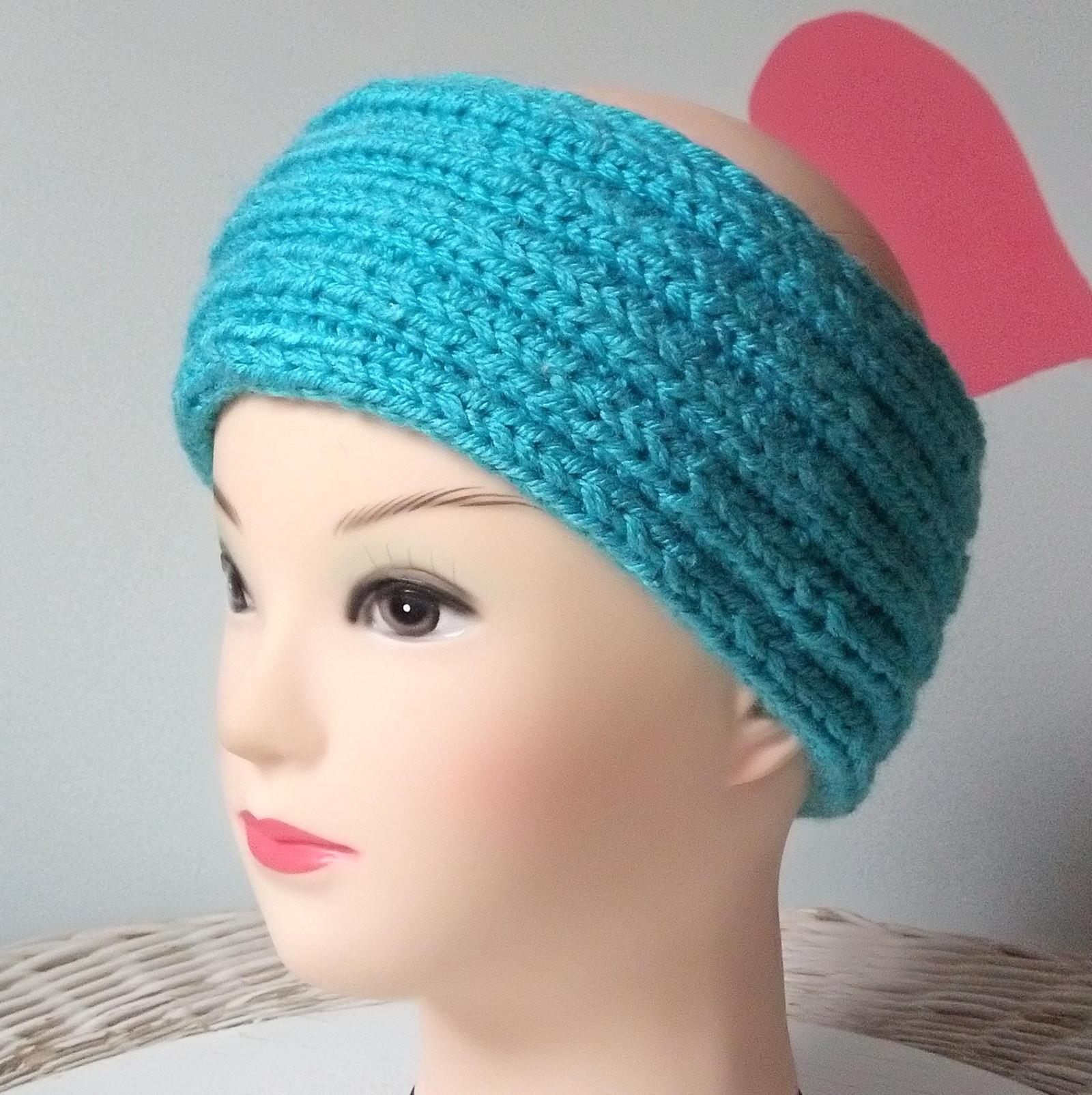 Ručně pletená čelenka pružná - 023   Zboží prodejce HM tvoření  8671e0f590