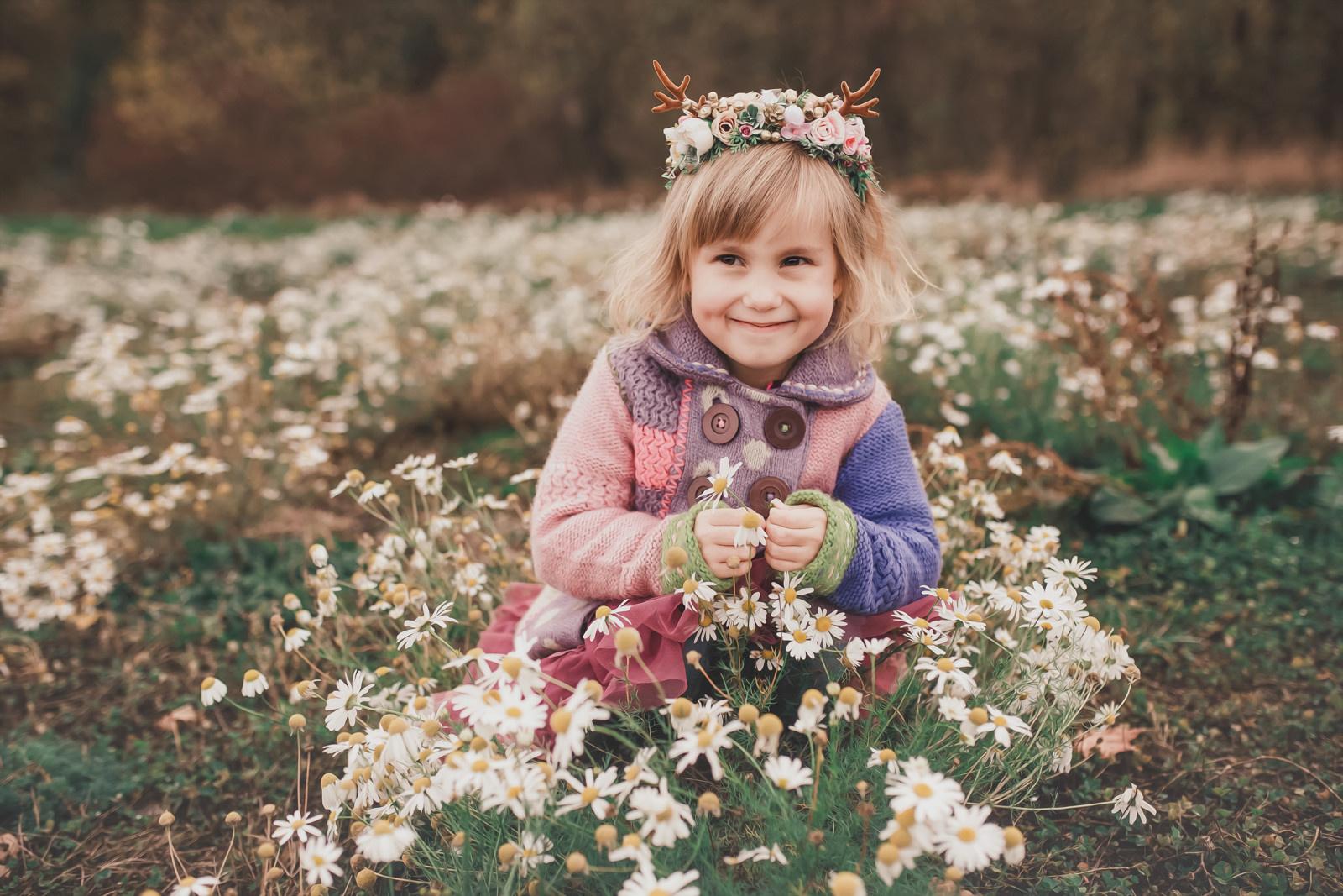 ee8f6d91bab Něžná květinová čelenka s parůžky Halloween   Zboží prodejce ...