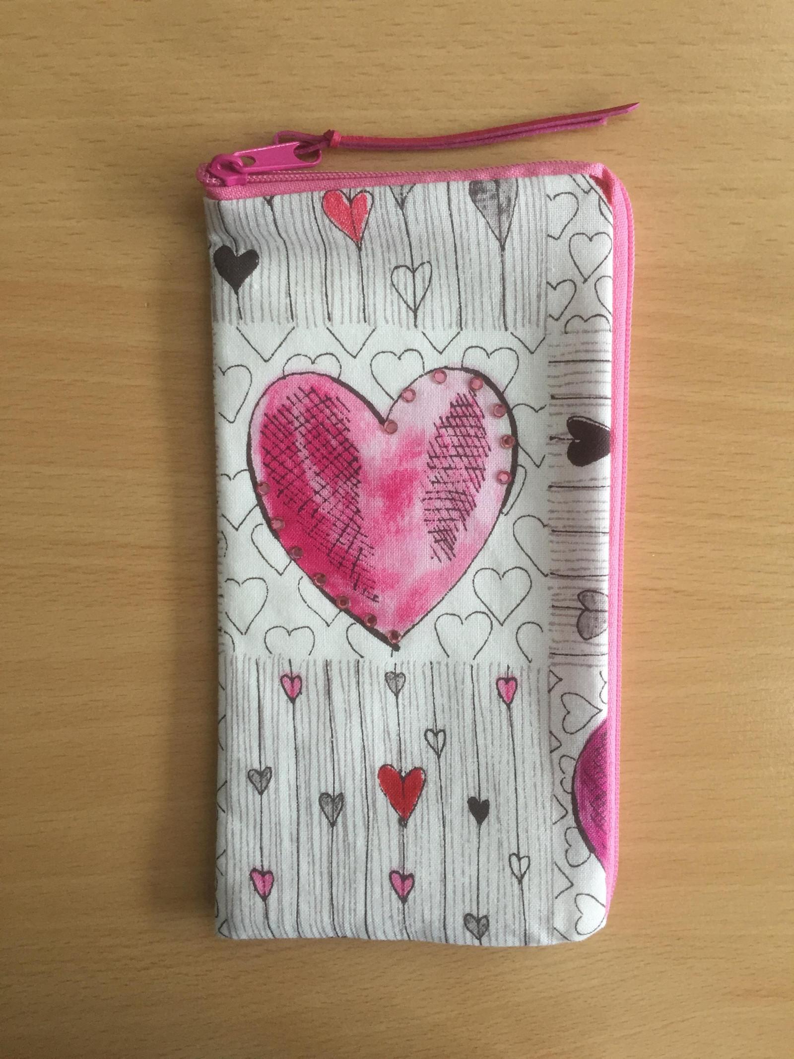 Obal na mobil - růžové srdce   Zboží prodejce AnetMi  6699d98e336