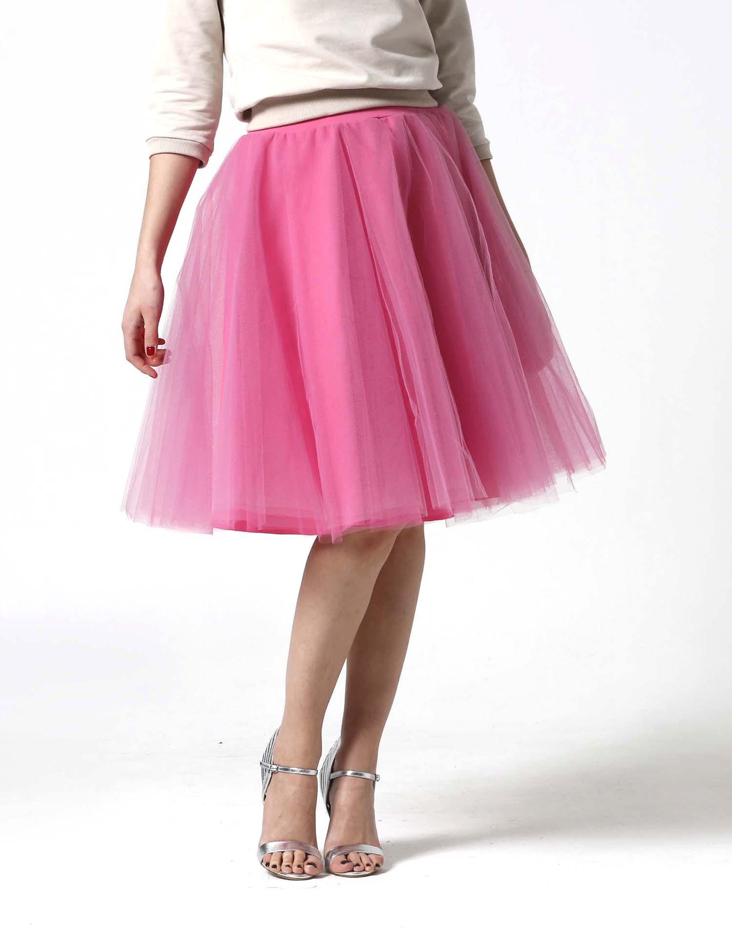 a2e0555dec40 Tylová sukňa Midi sladká ružová   Zboží prodejce ZuzanaZachar